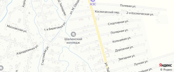 6-й Магнитный переулок на карте Шали с номерами домов