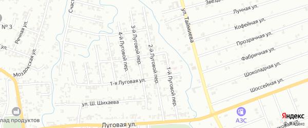 Луговой 2-й переулок на карте Шали с номерами домов