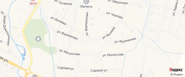 Улица Фурманова на карте села Герменчук с номерами домов