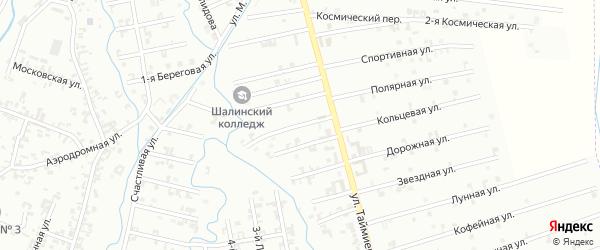 5-й Магнитный переулок на карте Шали с номерами домов