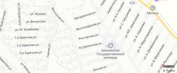 Ростовская улица на карте Шали с номерами домов
