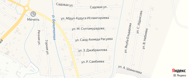 Улица Саид-Ахмеда Расуева на карте села Герменчук с номерами домов