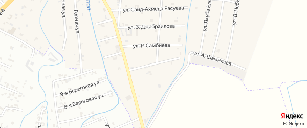 Улица Рустама Акмурзаева на карте села Герменчук с номерами домов