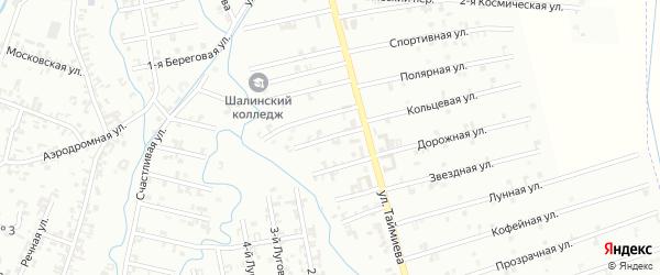 4-й Магнитный переулок на карте Шали с номерами домов