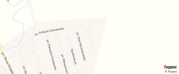 Улица Сайпи Абдулхаджиева на карте села Герменчук с номерами домов