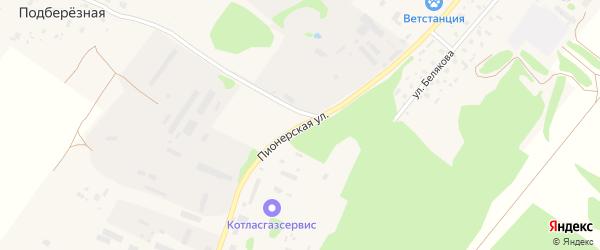 Пионерская улица на карте села Красноборска с номерами домов