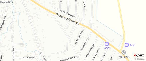 2-й Первомайский на карте Шали с номерами домов