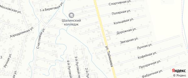3-й Магнитный переулок на карте Шали с номерами домов