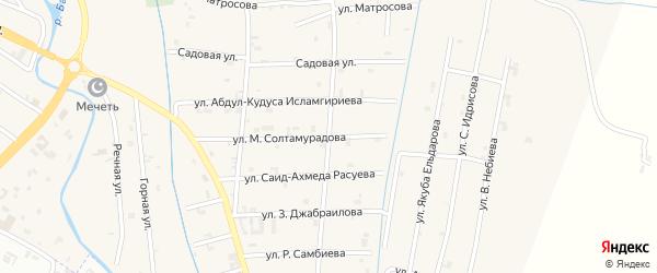 Переулок 3-й Матросова на карте села Герменчук с номерами домов