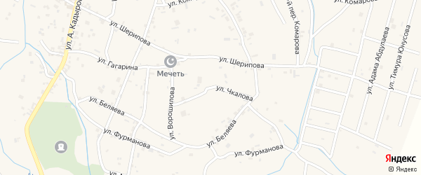 Улица Чкалова на карте села Герменчук с номерами домов