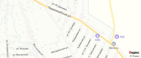 Улица М.Сулаева на карте Шали с номерами домов