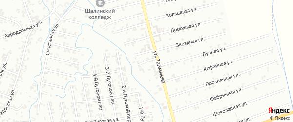 1-й Магнитный переулок на карте Шали с номерами домов