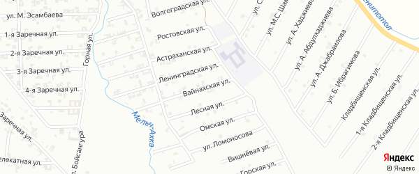 Вайнахская улица на карте Шали с номерами домов