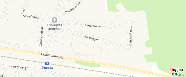 Новая улица на карте Удимского поселка с номерами домов