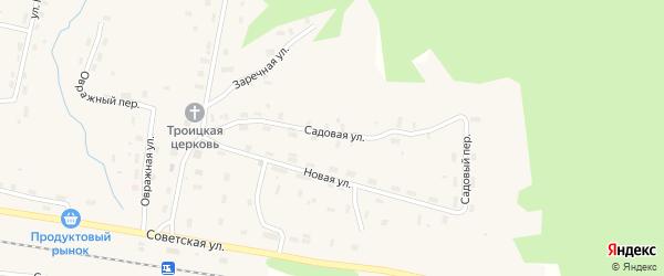Садовая улица на карте Удимского поселка с номерами домов