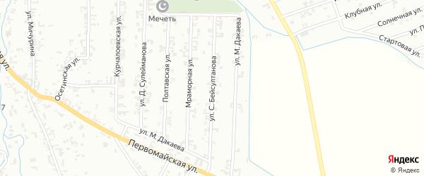 Улица С.Бейсултанова на карте Шали с номерами домов