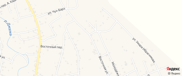 Восточная улица на карте села Герменчук с номерами домов