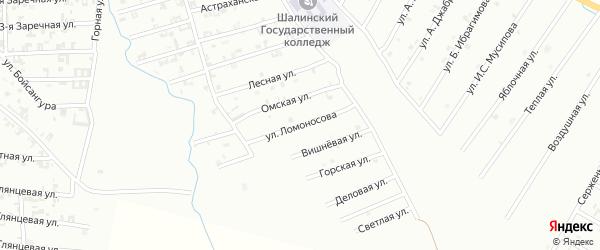 Улица Ломоносова на карте Шали с номерами домов