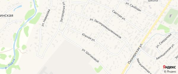 Южная улица на карте села Красноборска с номерами домов