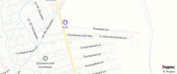 2-я Космическая улица на карте Шали с номерами домов