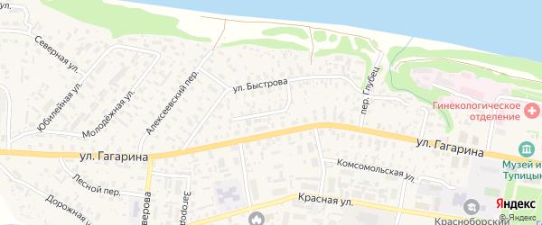 Садовая улица на карте села Красноборска с номерами домов