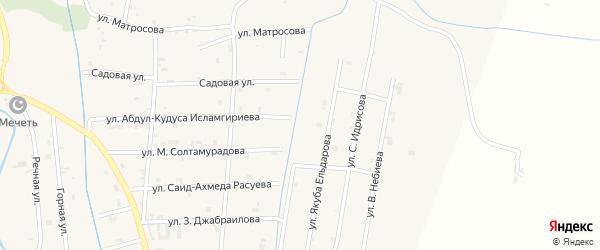 Улица Миди Алисханова на карте села Герменчук с номерами домов