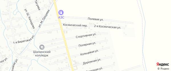 3-я Космическая улица на карте Шали с номерами домов