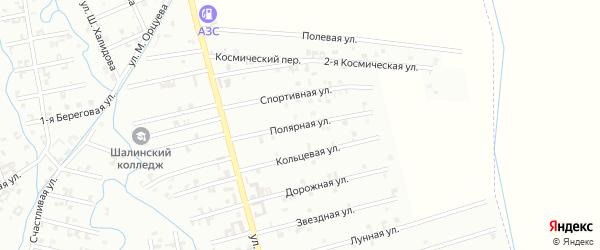 4-я Космическая улица на карте Шали с номерами домов