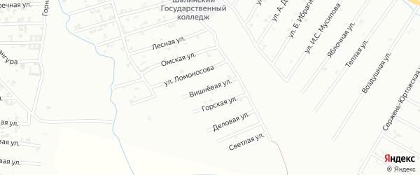 Вищневая улица на карте Шали с номерами домов