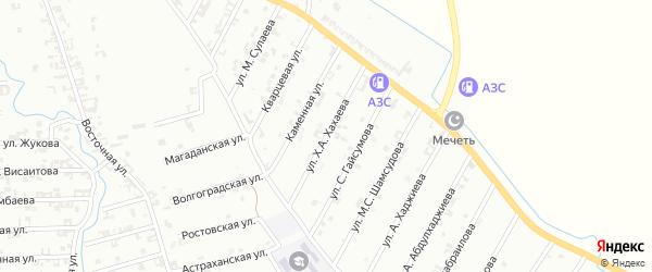 Улица Х.Хахаева на карте Шали с номерами домов