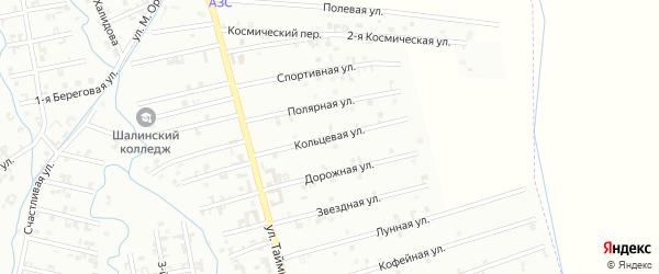 5-я Космическая улица на карте Шали с номерами домов
