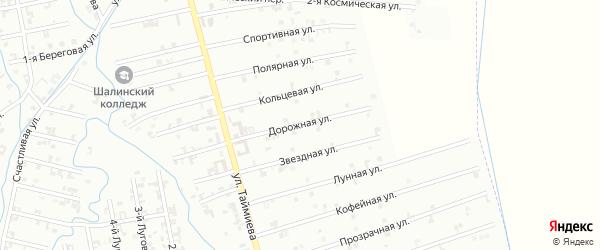 6-я Космическая улица на карте Шали с номерами домов
