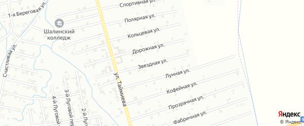 7-я Космическая улица на карте Шали с номерами домов