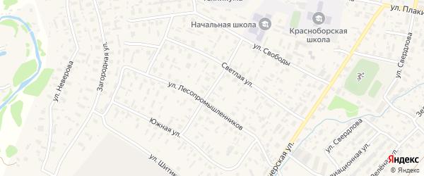 Школьная улица на карте села Красноборска с номерами домов