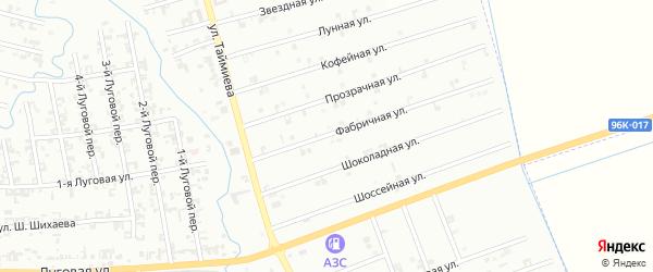 11-я Космическая улица на карте Шали с номерами домов