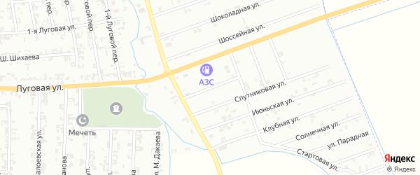 1-я Спутниковая улица на карте Шали с номерами домов