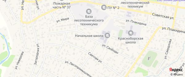 Улица Свободы на карте села Красноборска с номерами домов