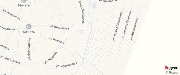 Переулок 3-й Махмуда Умарова на карте села Герменчук с номерами домов