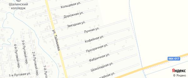 9-я Космическая улица на карте Шали с номерами домов