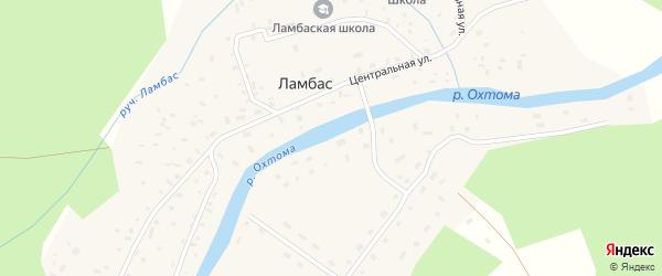 Заречная улица на карте поселка Ламбаса с номерами домов