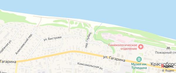 Переулок Глубец на карте села Красноборска с номерами домов