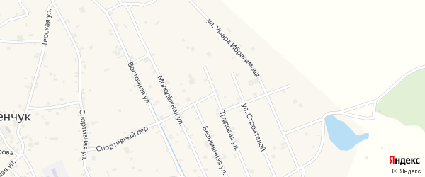 Трудовая улица на карте села Герменчук с номерами домов