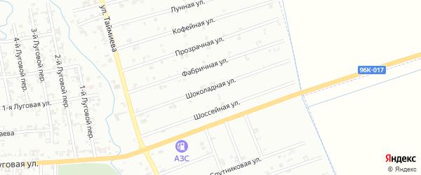 12-я Космическая улица на карте Шали с номерами домов