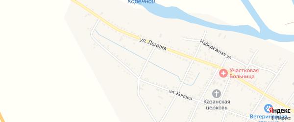 Переулок Пушкина на карте села Старицы с номерами домов
