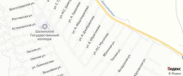 Улица Б.Ибрагимова на карте Шали с номерами домов