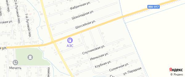 4-й Быстрый переулок на карте Шали с номерами домов