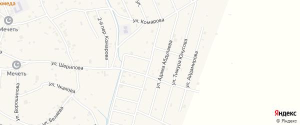 Улица Ризвана Абзатова на карте села Герменчук с номерами домов