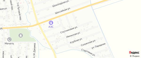 2-я Спутниковая улица на карте Шали с номерами домов
