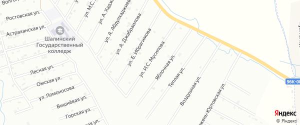 Кладбищенская улица на карте Шали с номерами домов