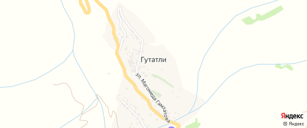 Улица М.Гамзатова на карте села Гутатли с номерами домов